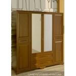 Шкаф распашной с зеркалом 4х створчатый